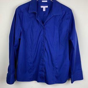Chico's No Iron Blue Button Down Shirt